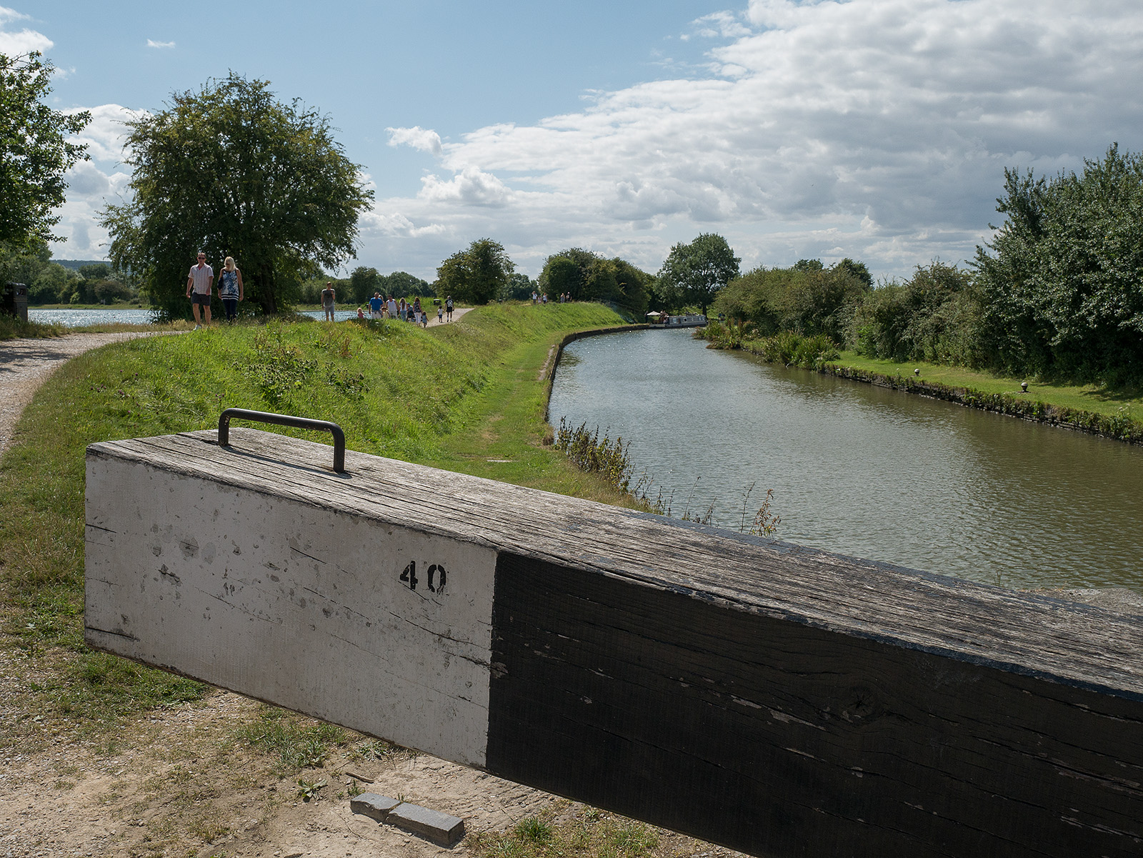 Marsworth lower lock and the nearby Marsworth Reservoir