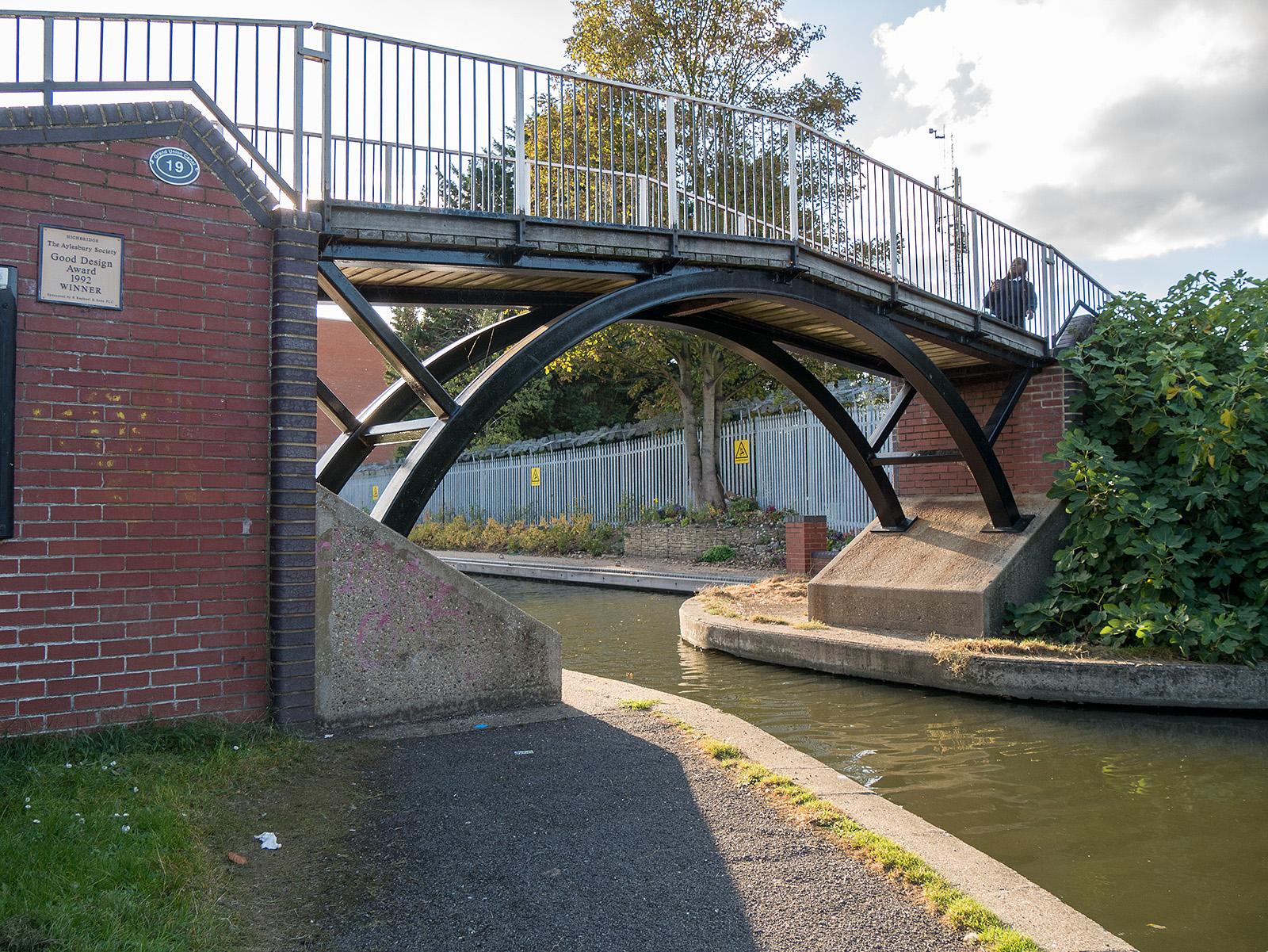 Award winning bridge on the approach to Aylesbury.