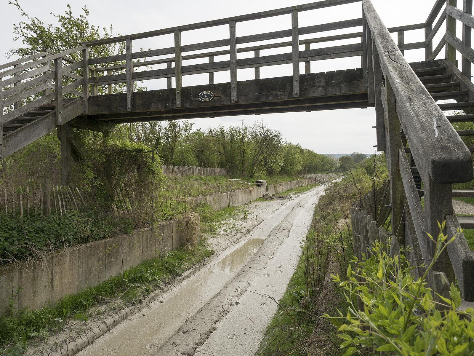 Muddy canal bed at bridge 4