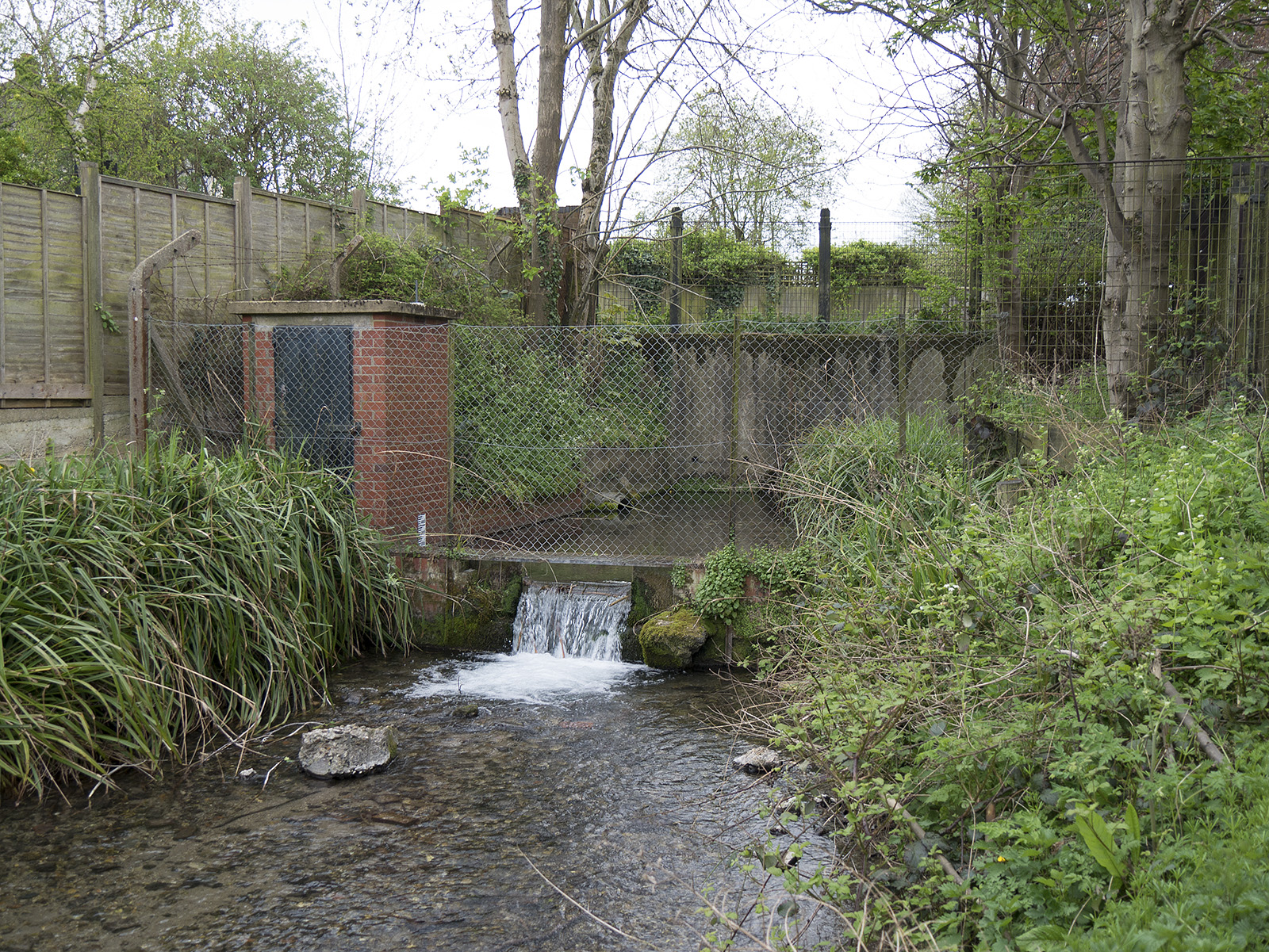 No entry - small fenced in culvert