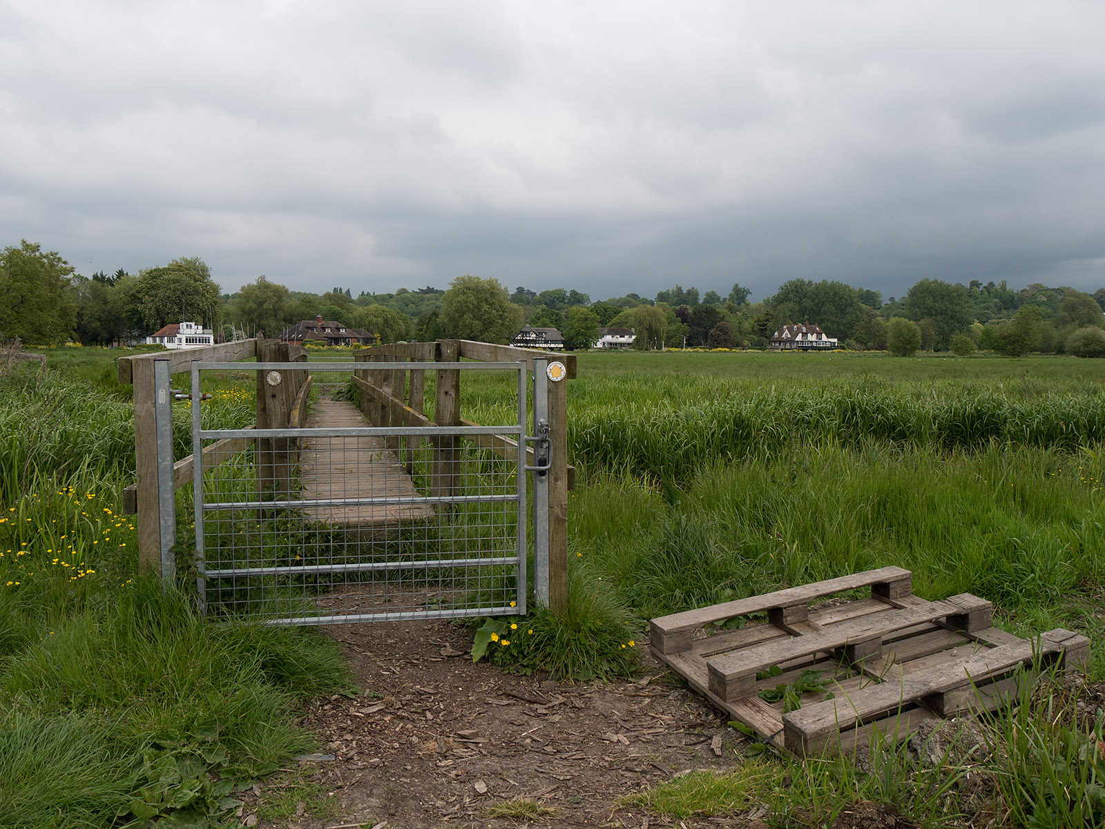 Gated bridge across the ditch