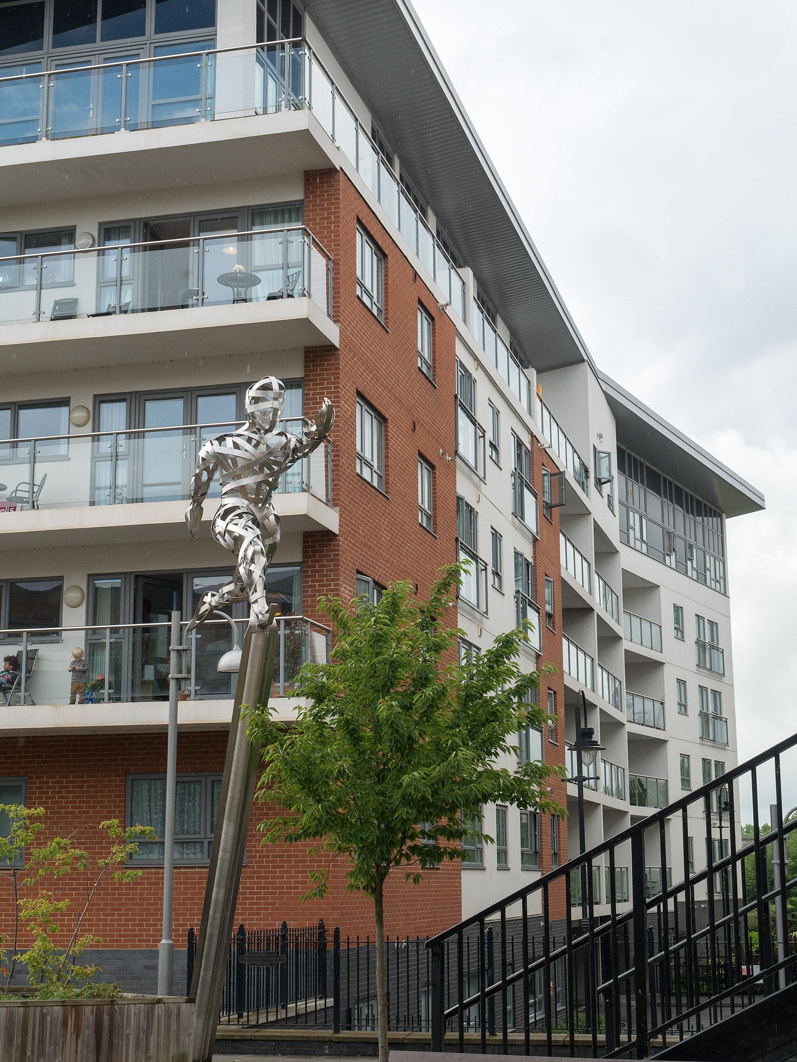 Steel sculpture at Wolverton
