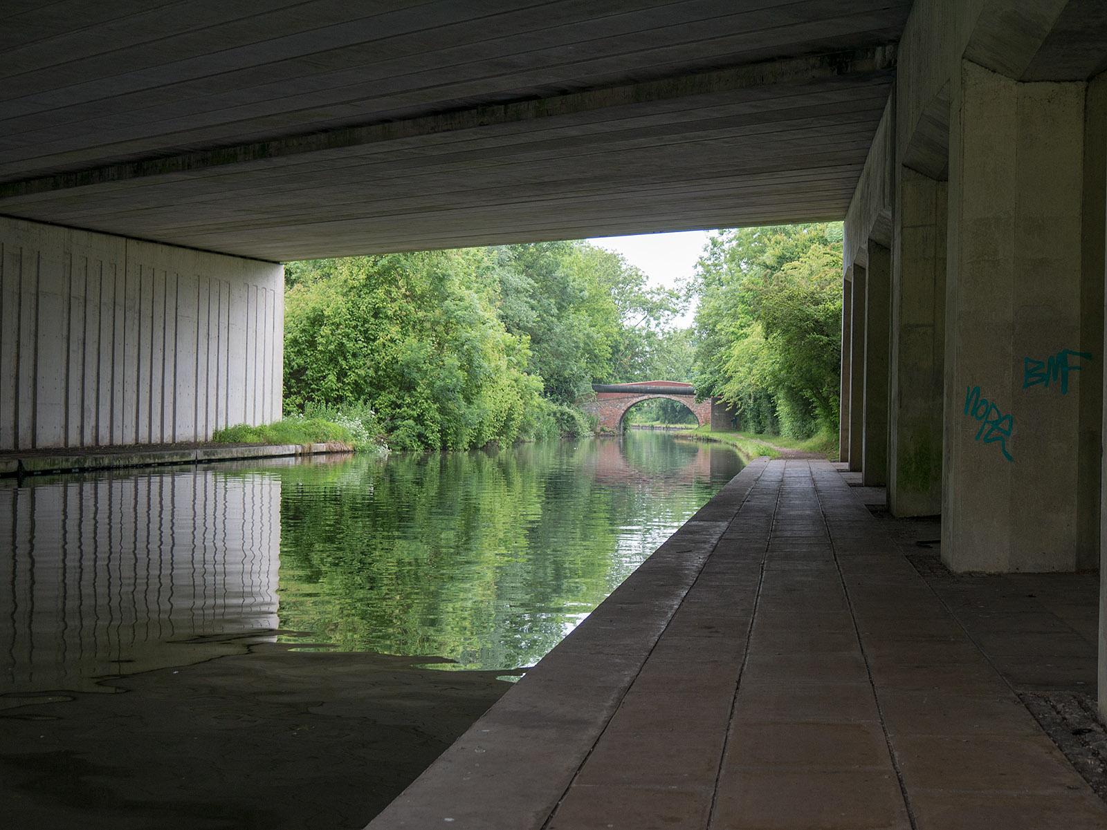 Modern concrete bridge