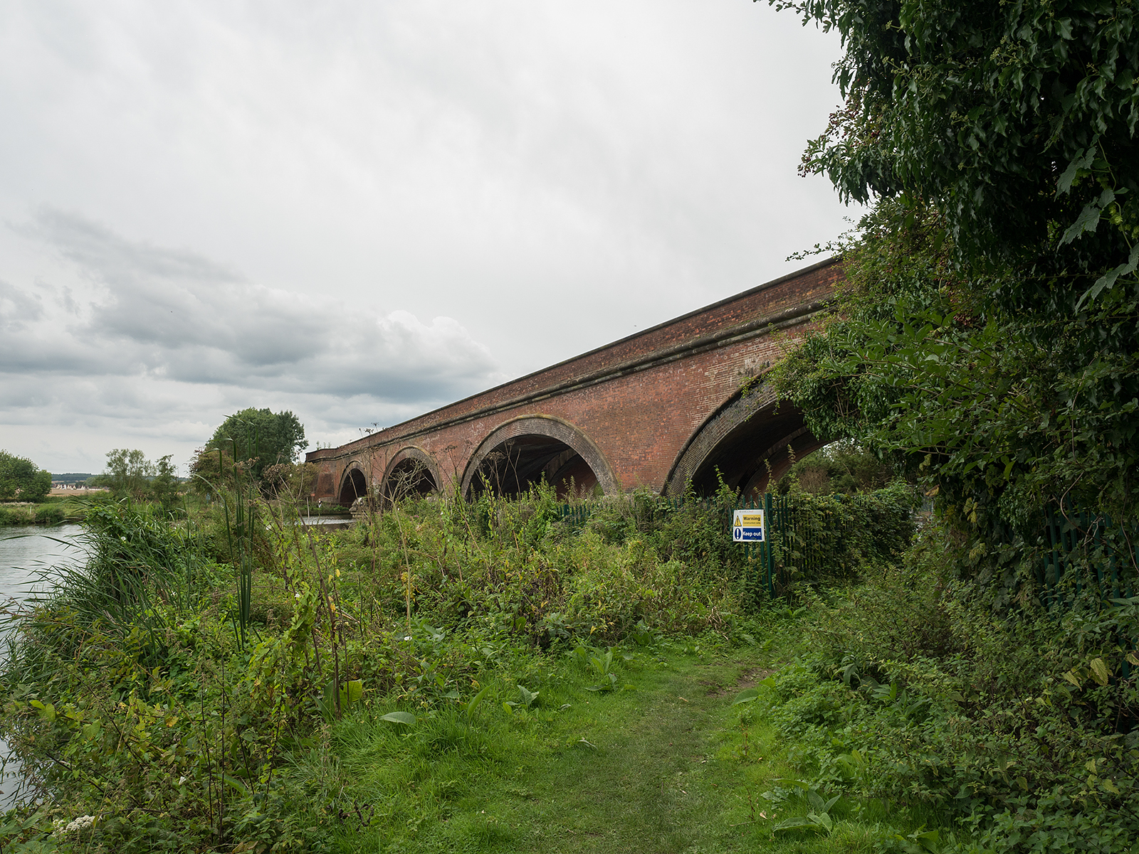 Looking back to the railway bridge