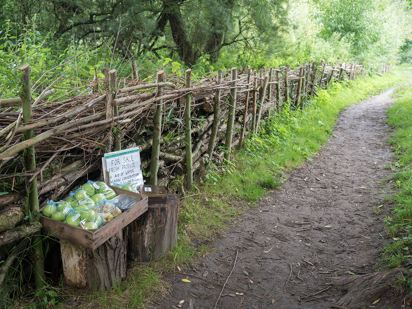Food for sale on the Thames path