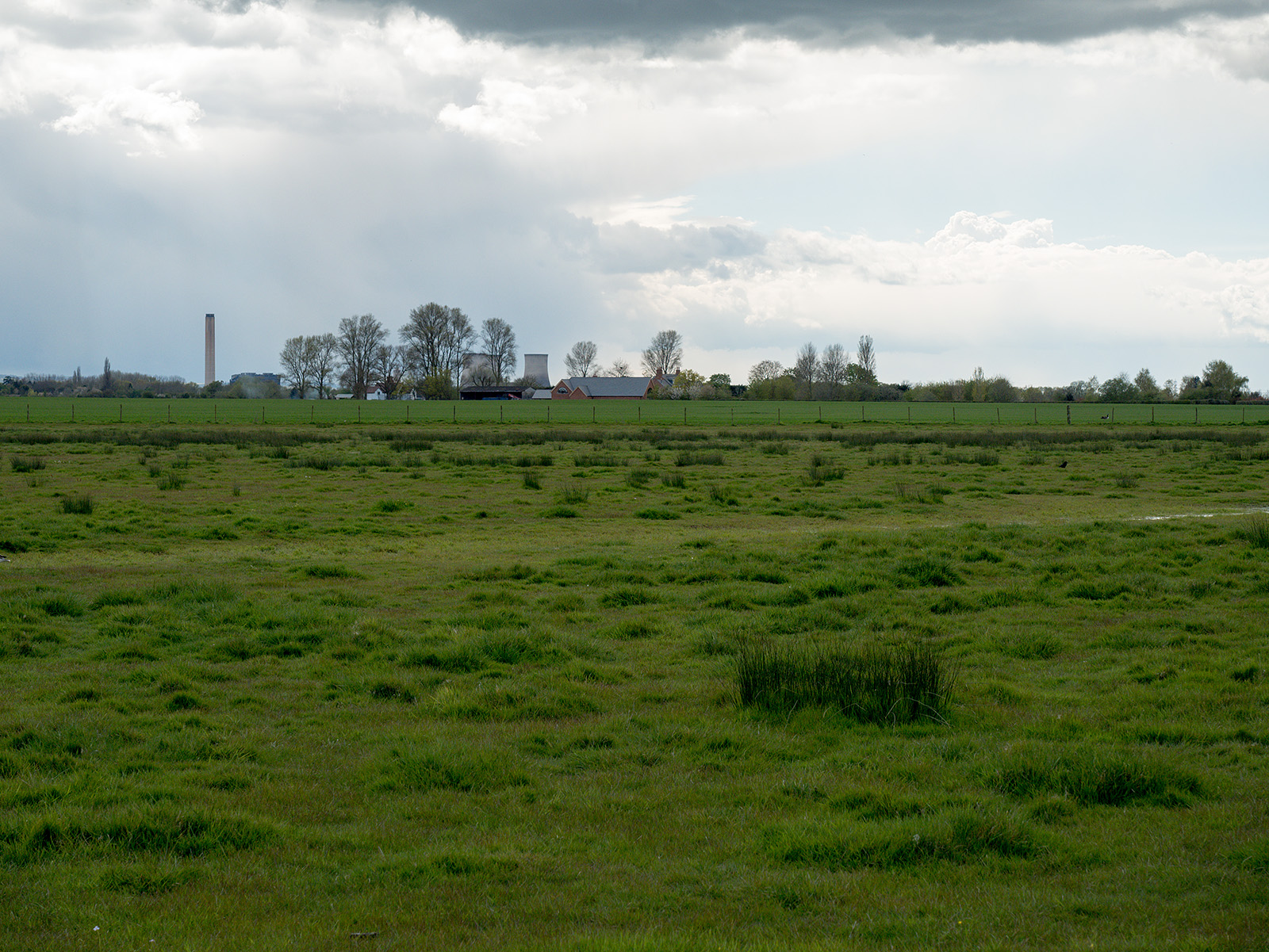 Didcot power station comes into view again - a common feature of this walk