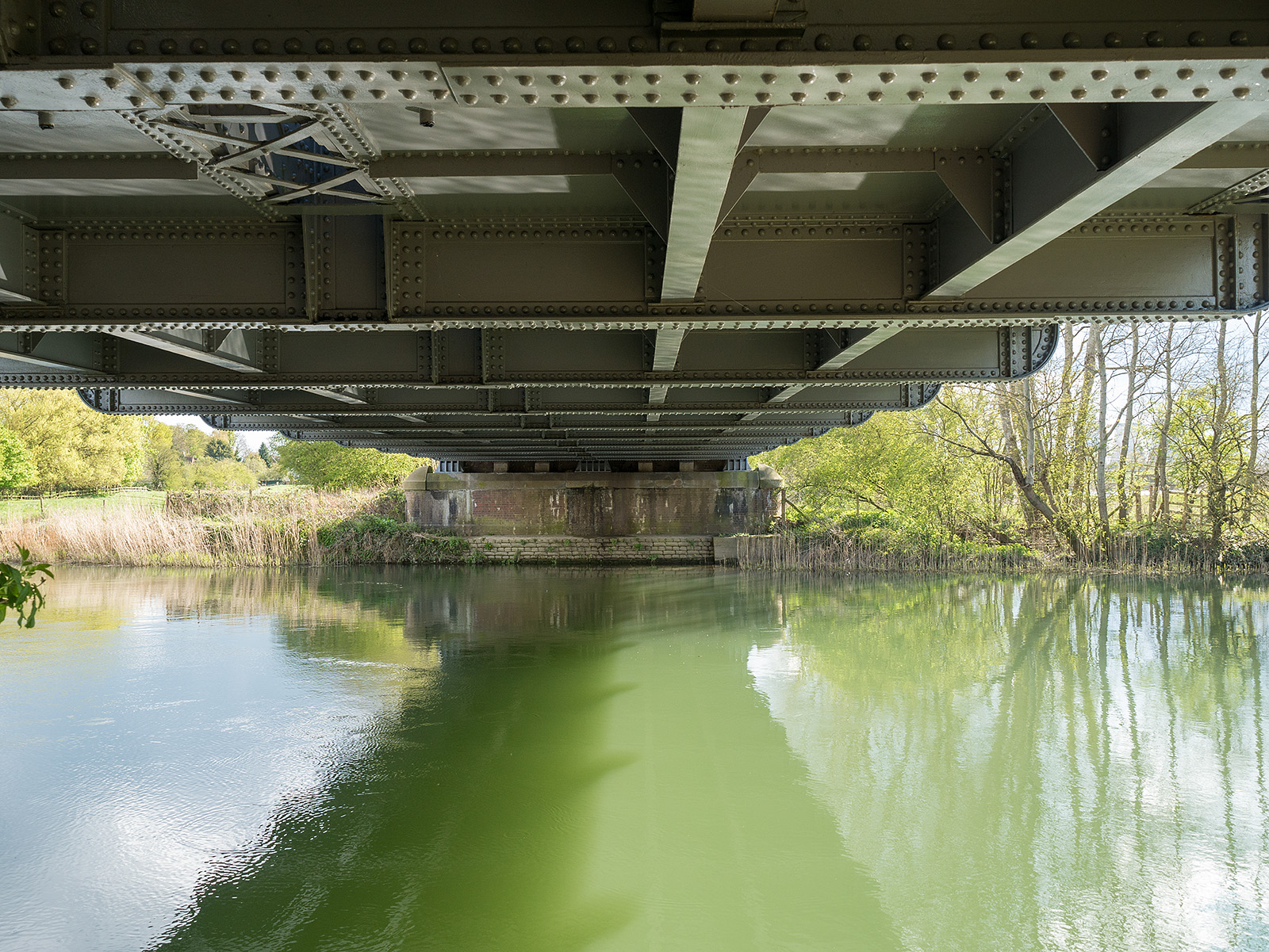 Underneath Appleford railway bridge