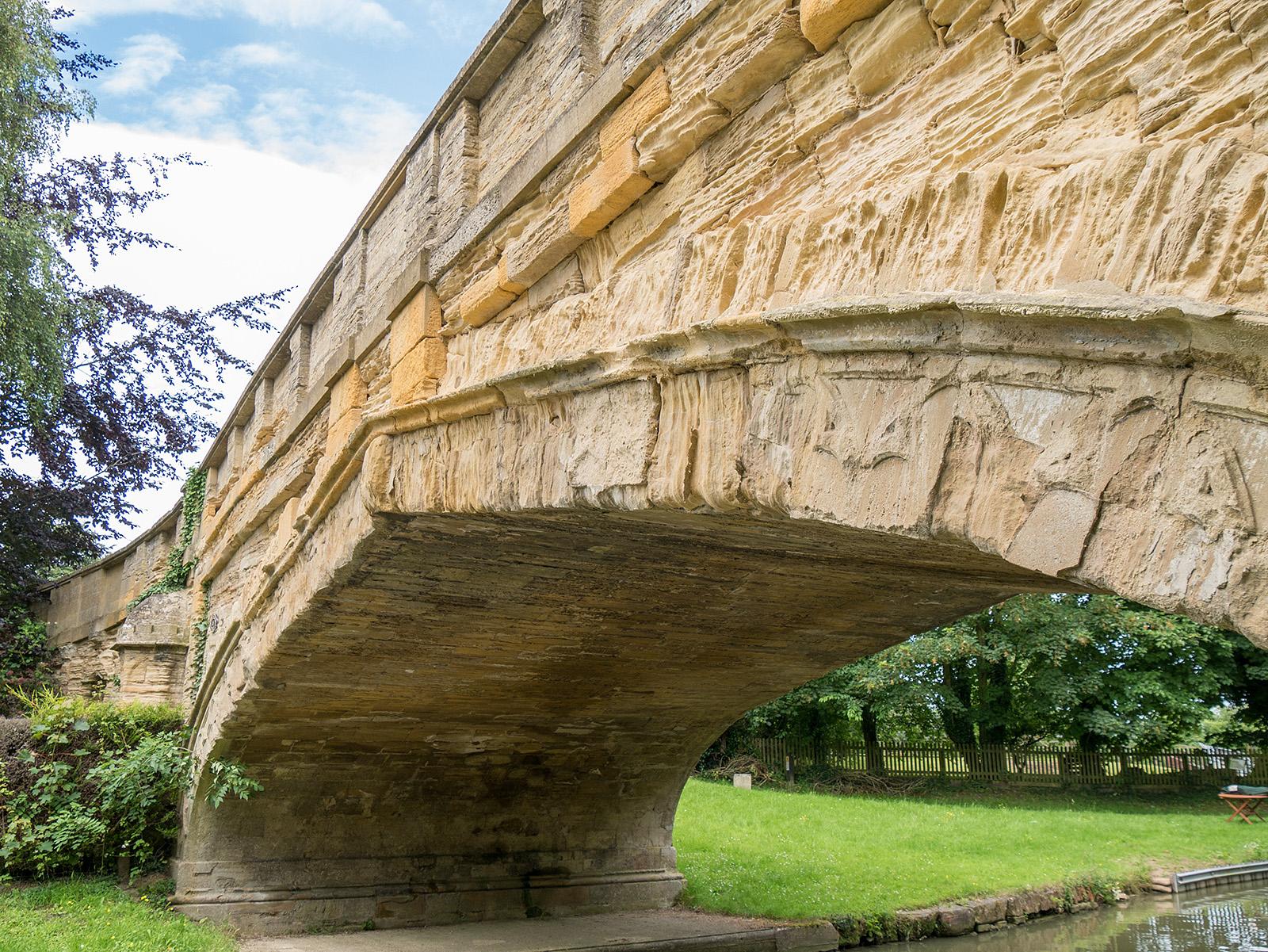 Close view of Solomon's bridge