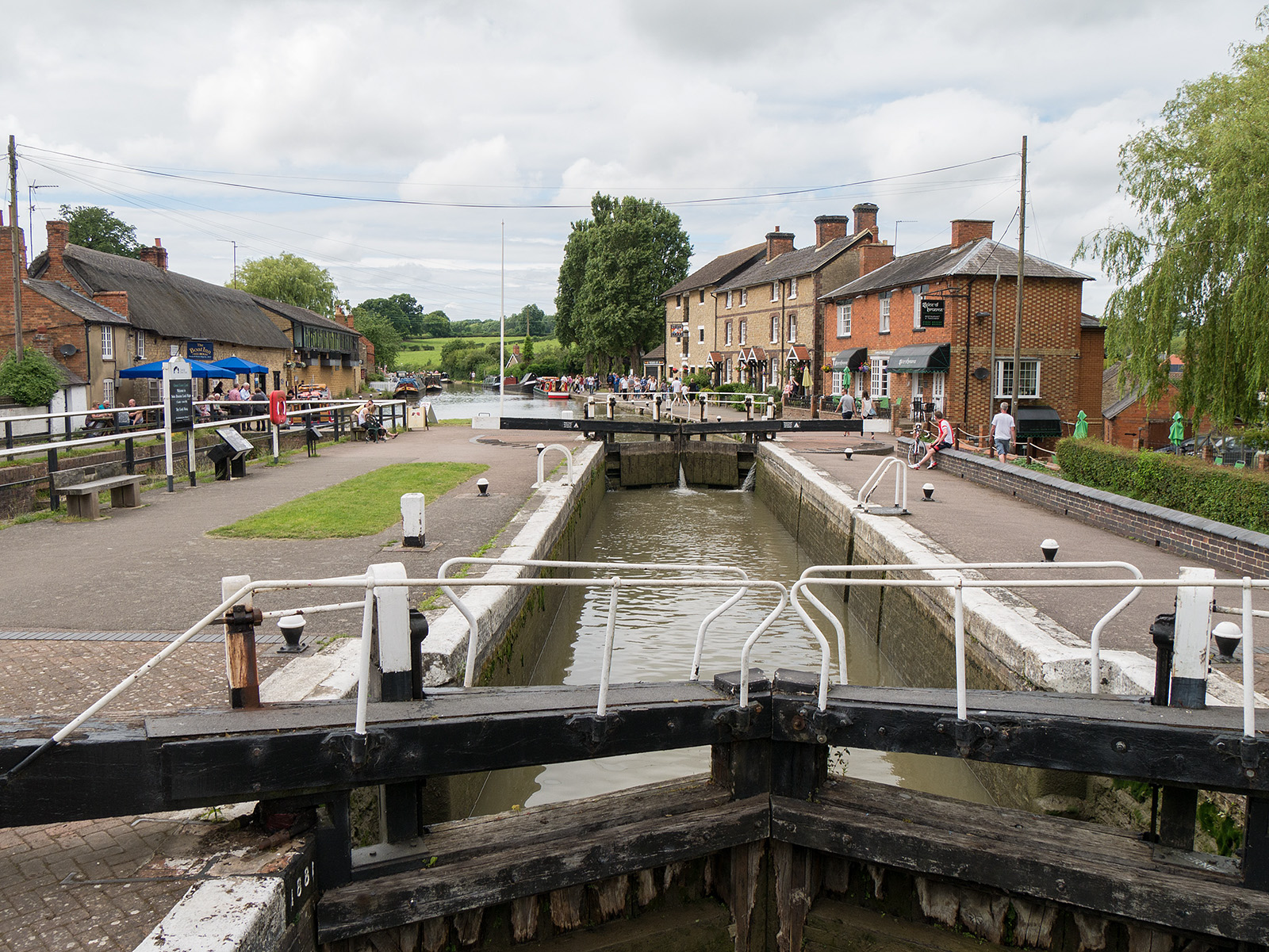Top lock and canalside museum at Stoke Bruerne