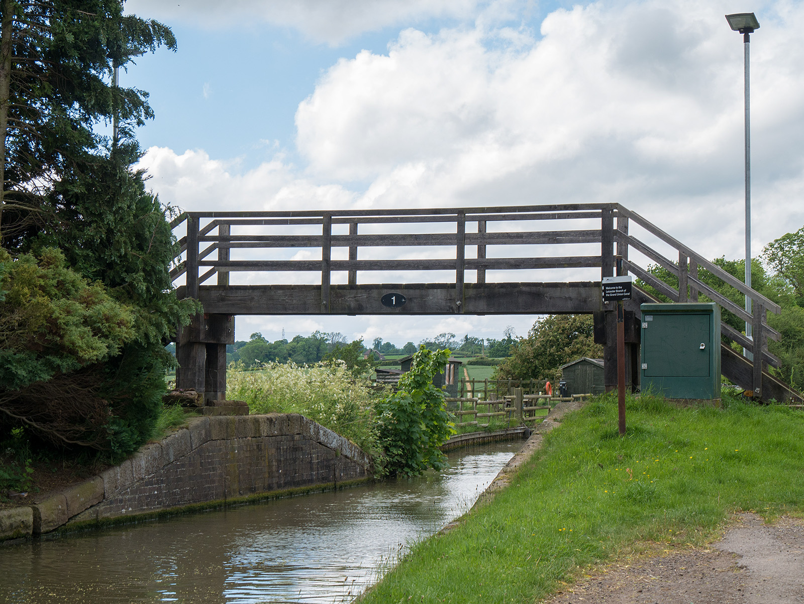No, not bridge 1 on the Grand Union Canal, but the first bridge on the Leicester canal
