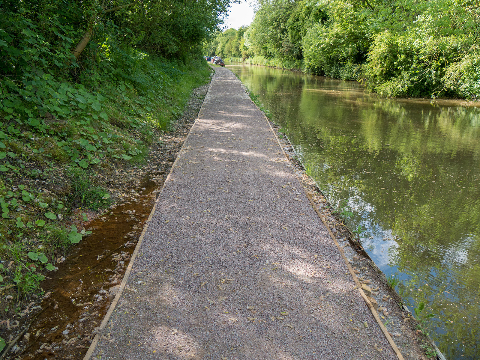 Path improvements due to some local flooding from rivulets