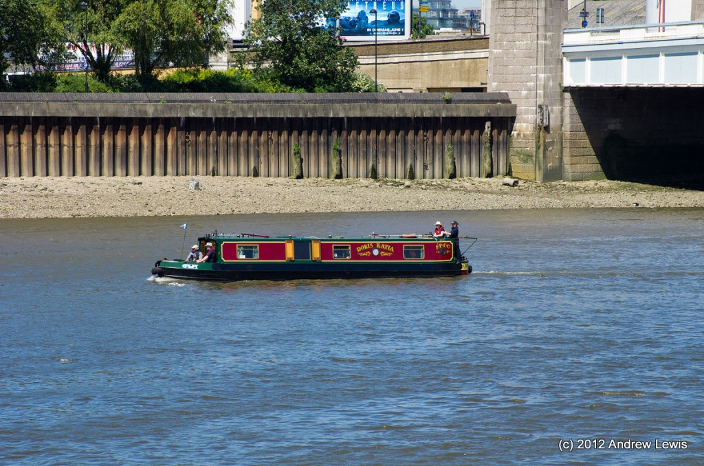Canal boat on the Thames