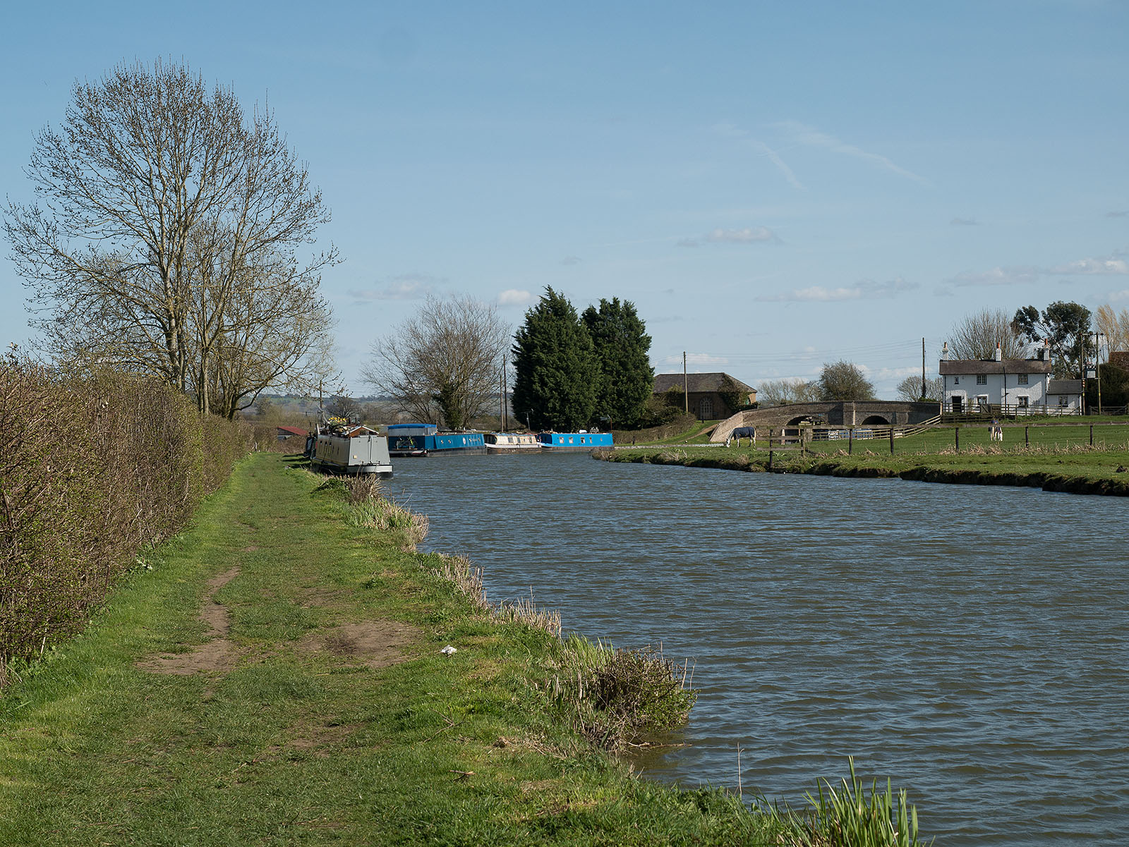 Looking back to Church lock