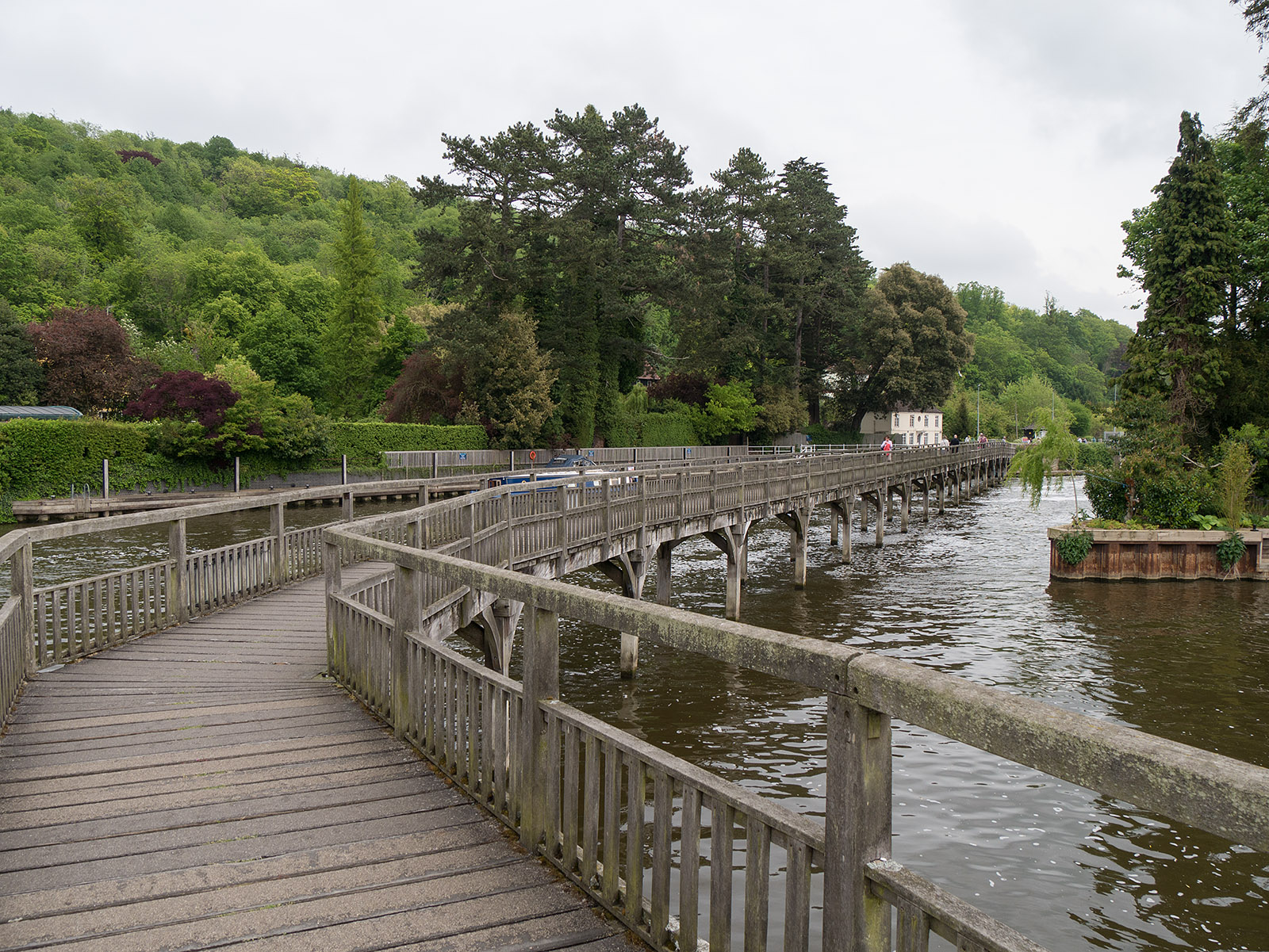 Wooden bridge at Marsh lock