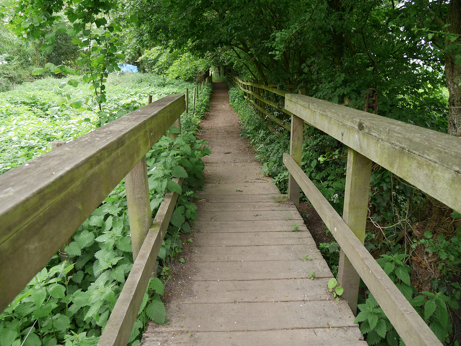 Footbridge just south of Ferry Ayot