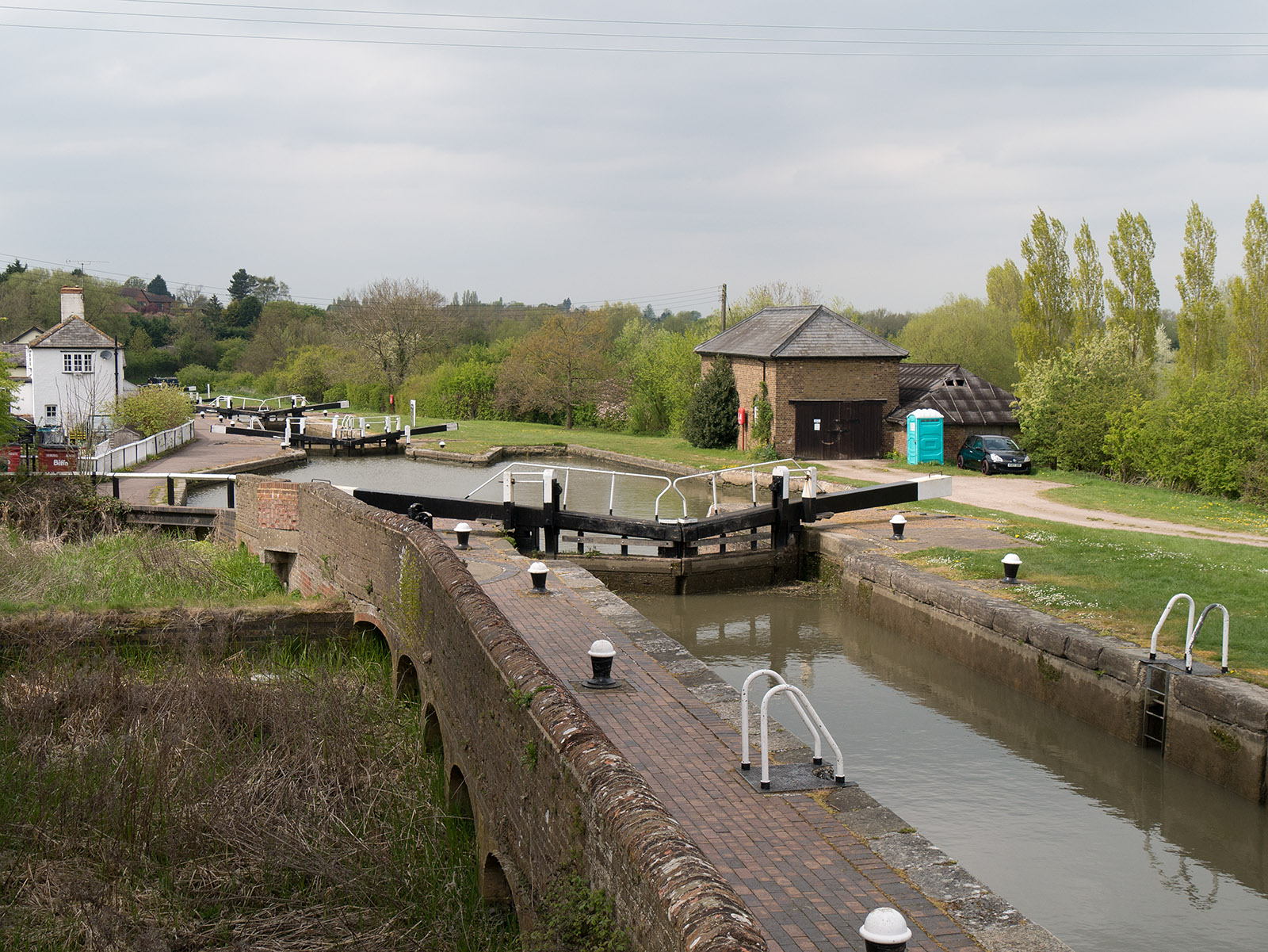 Looking down on Soulbury Three locks