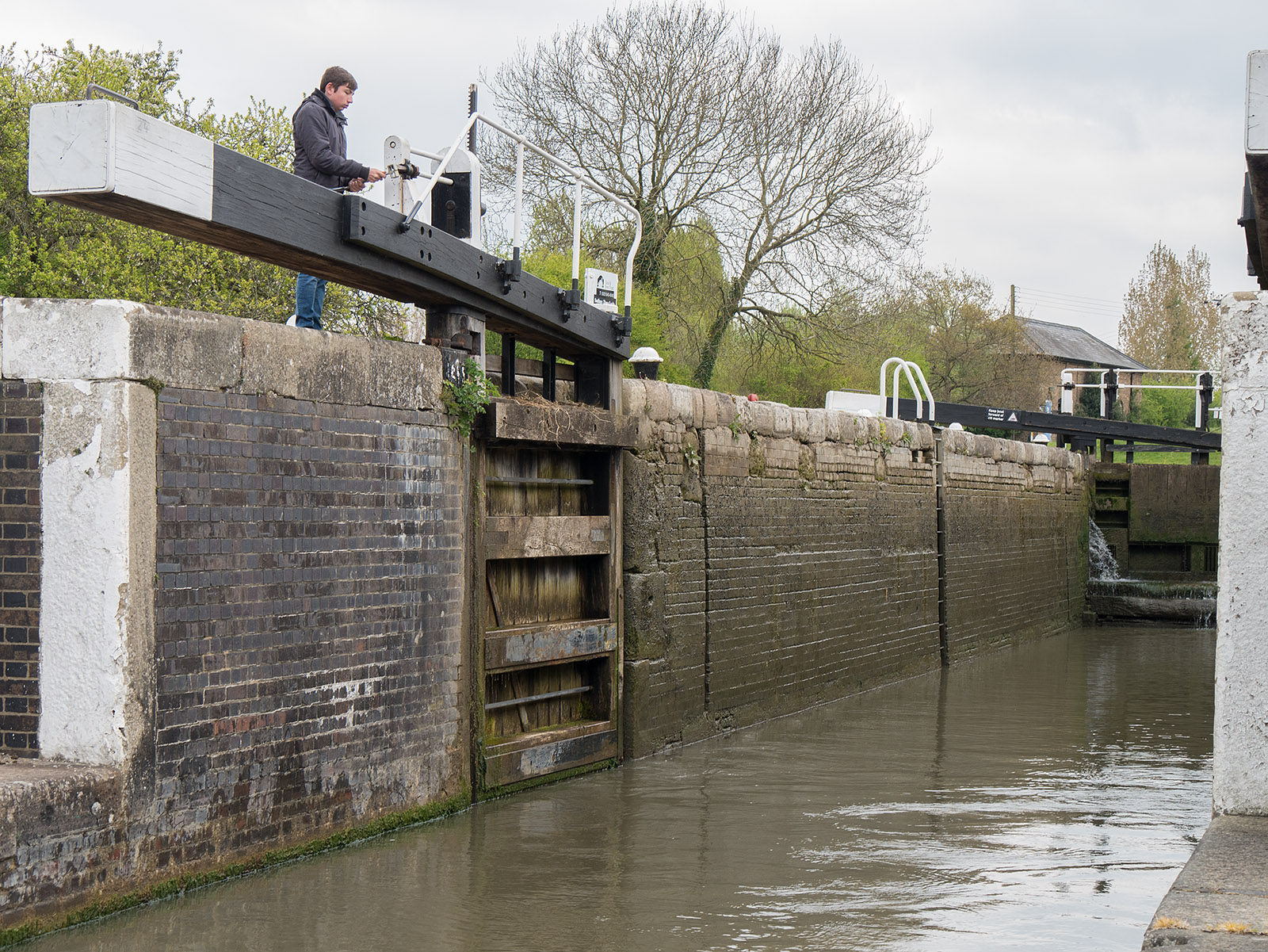 Lowest of the three locks at Soulbury