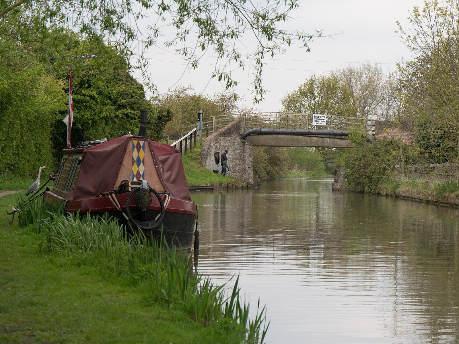Bridge 106 at Stoke Hammond - spot the heron!