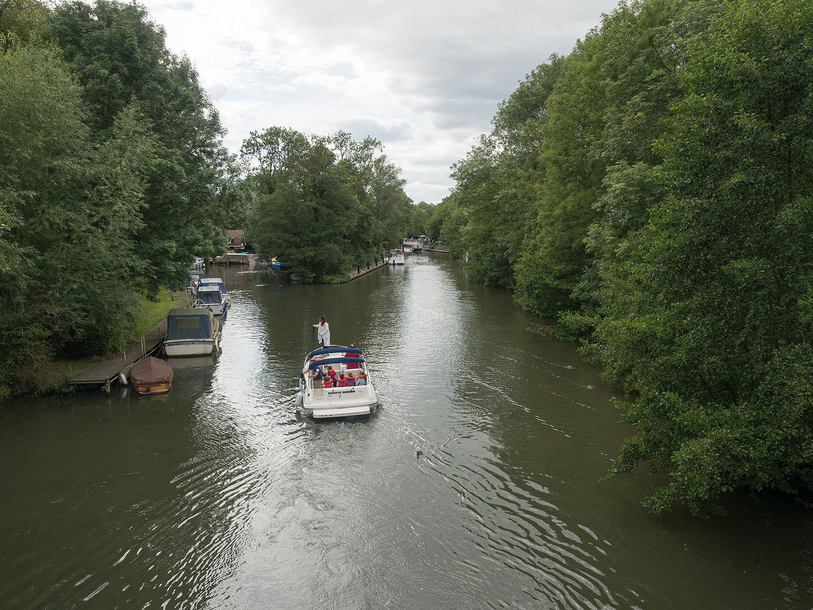 View from bridge to Temple Mill island