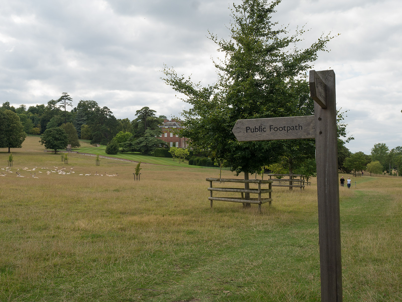 Public footpath across grounds of Culham Court