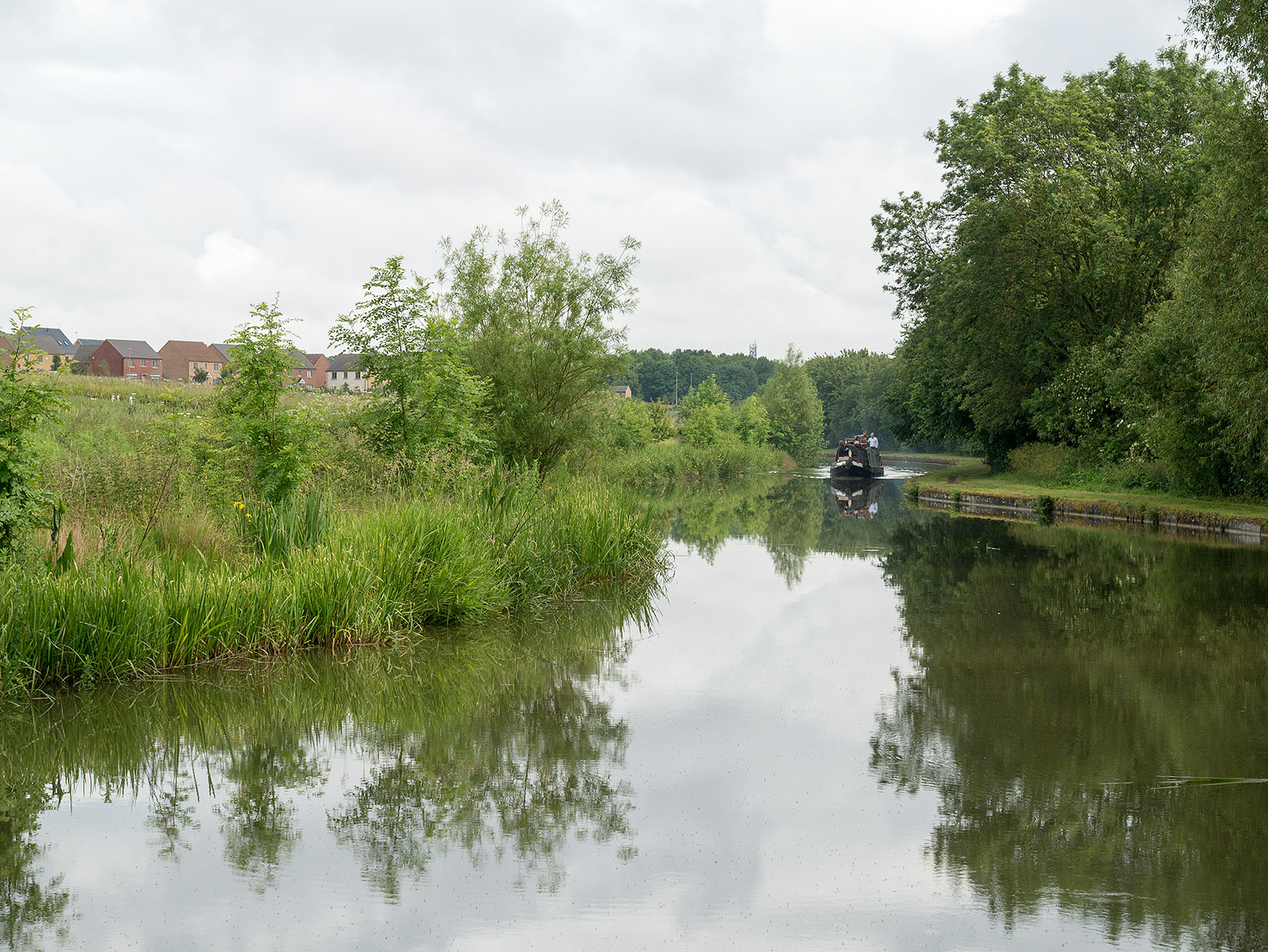 Despite this being mid June, not much traffic on the canal - perhaps due to the weather