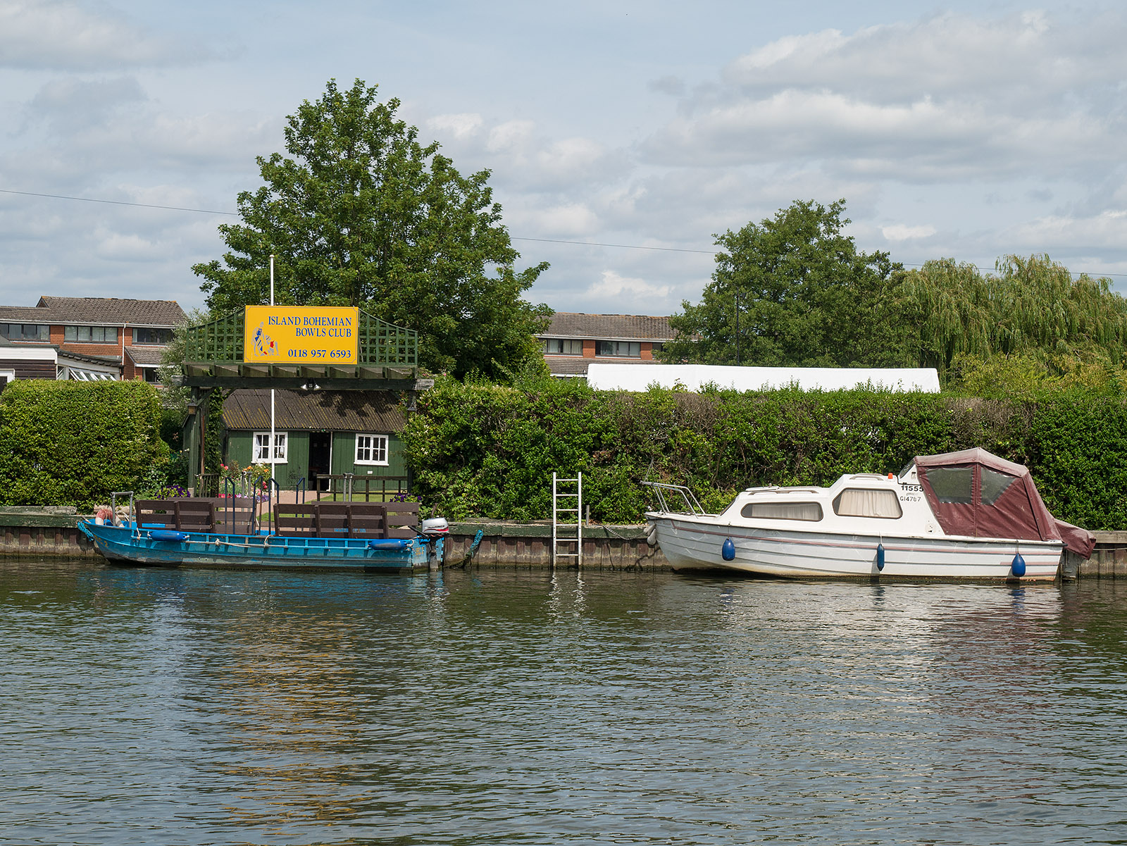 The only bowls club in the UK that requires a boat to access it