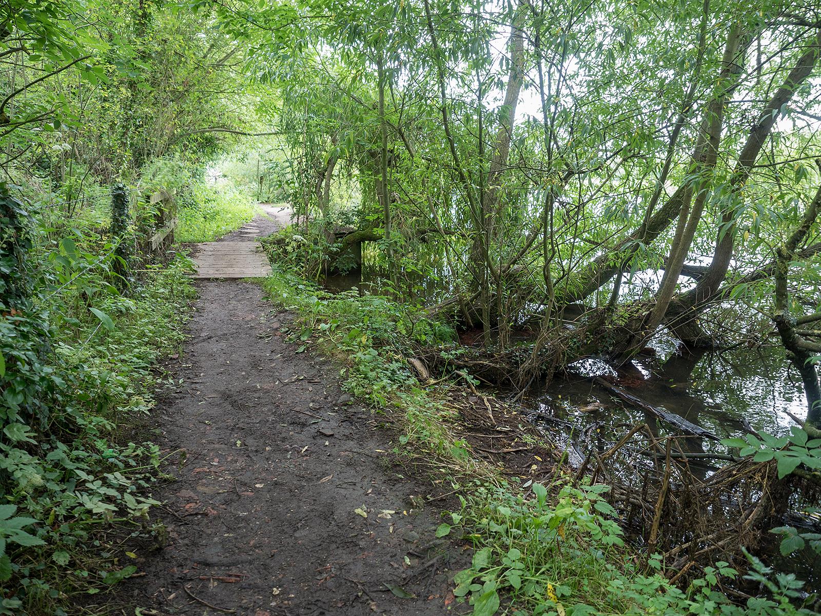 Small fotbridge over a stream