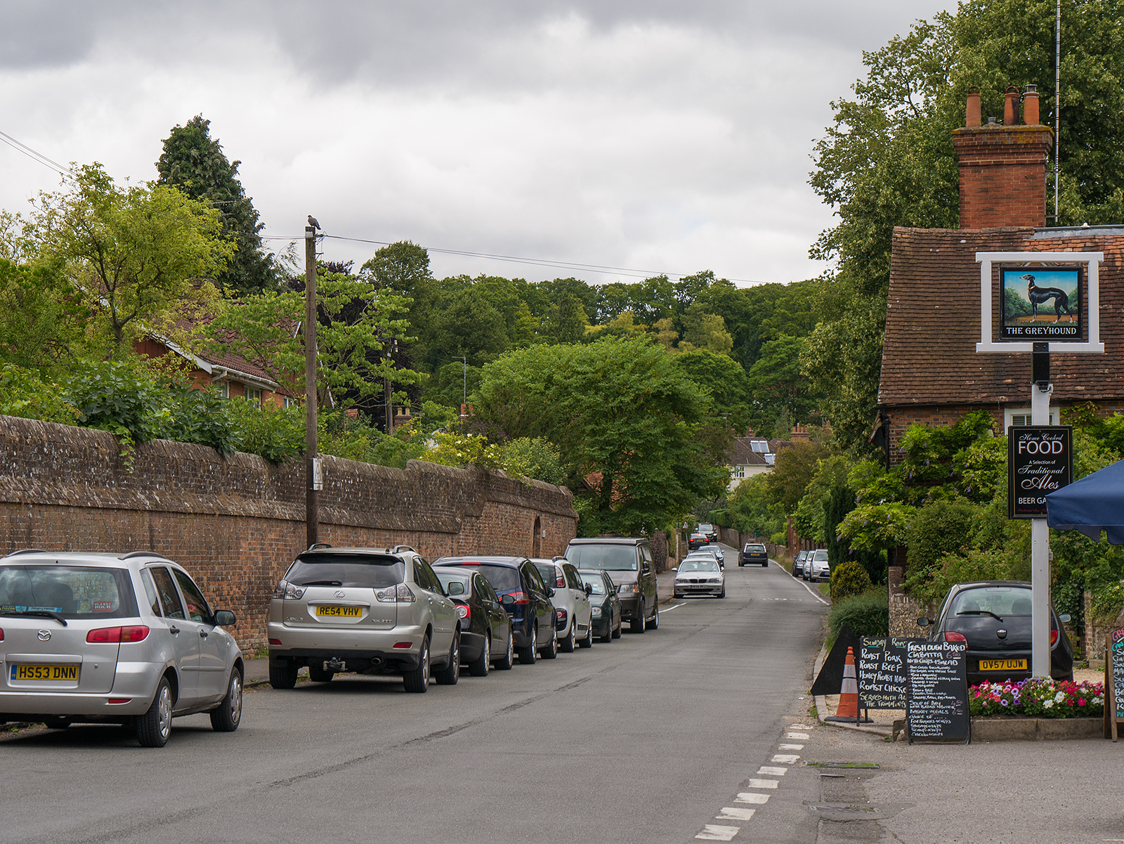 Heading up the main street in Whitchurch