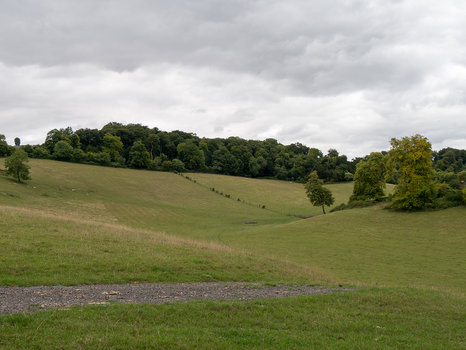One the path near Hartslock Wood looking east