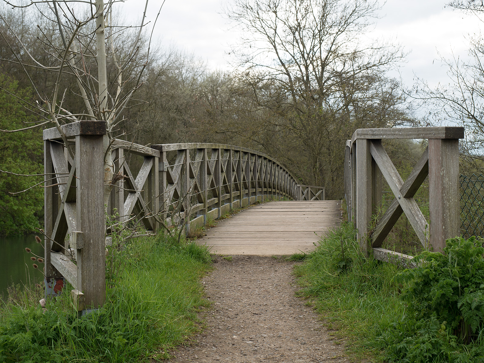 Wooden bridge at Dorchester