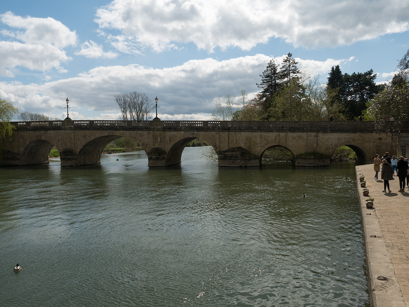 Wallingford bridge (looking back).