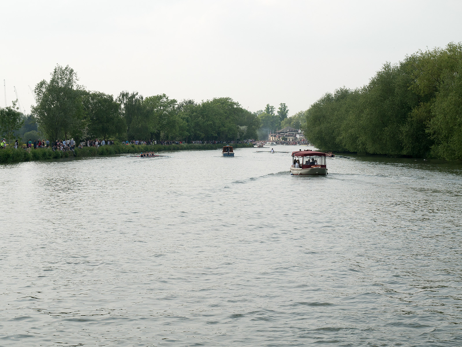 May bumps viewed from near the Isis boathouse