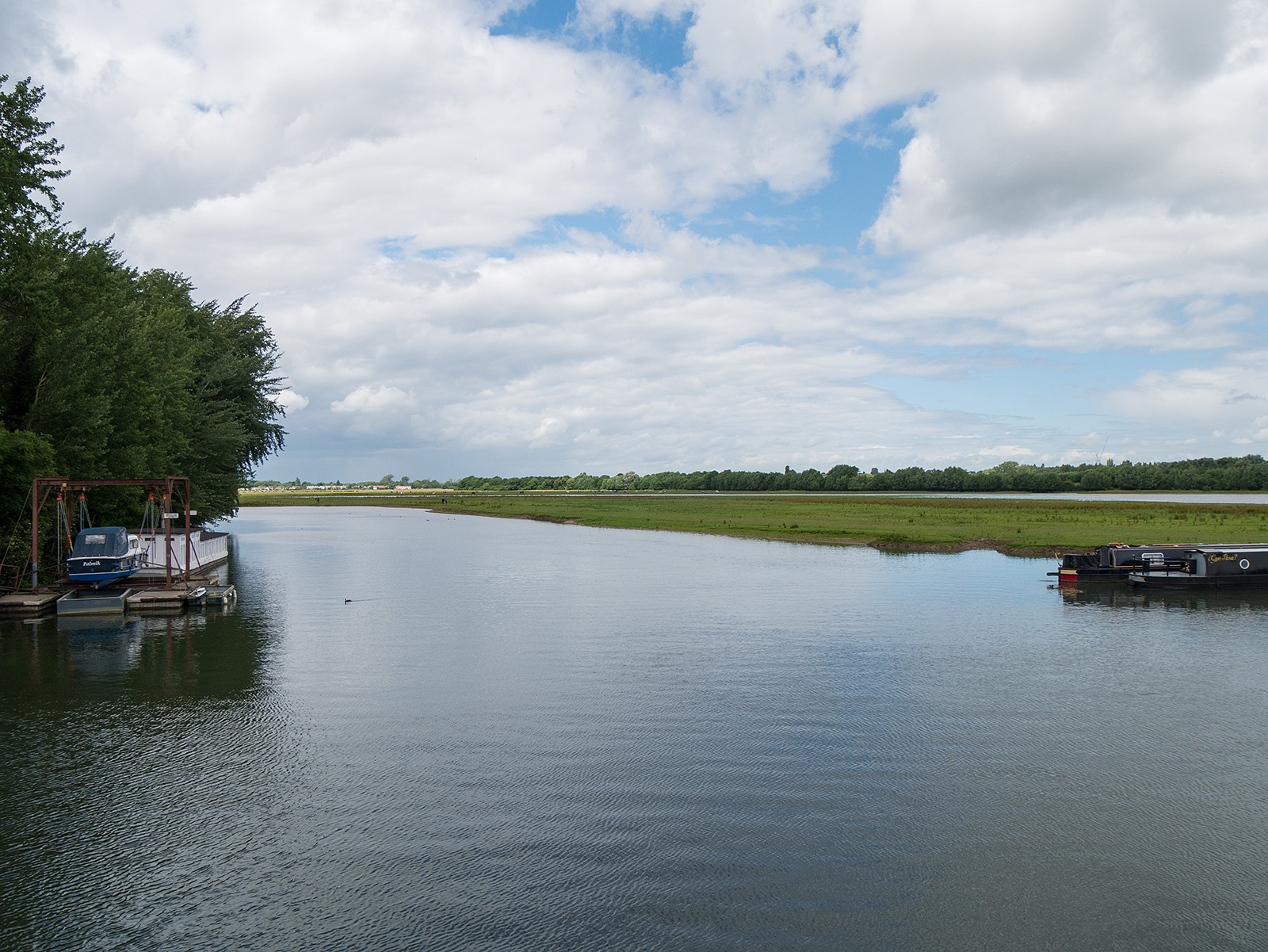 Looking over the river towards Port Meadow