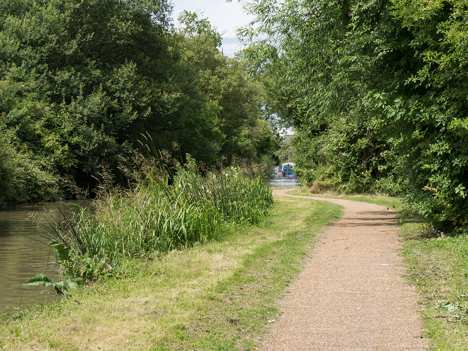 The path meanders to the west of Wolverton