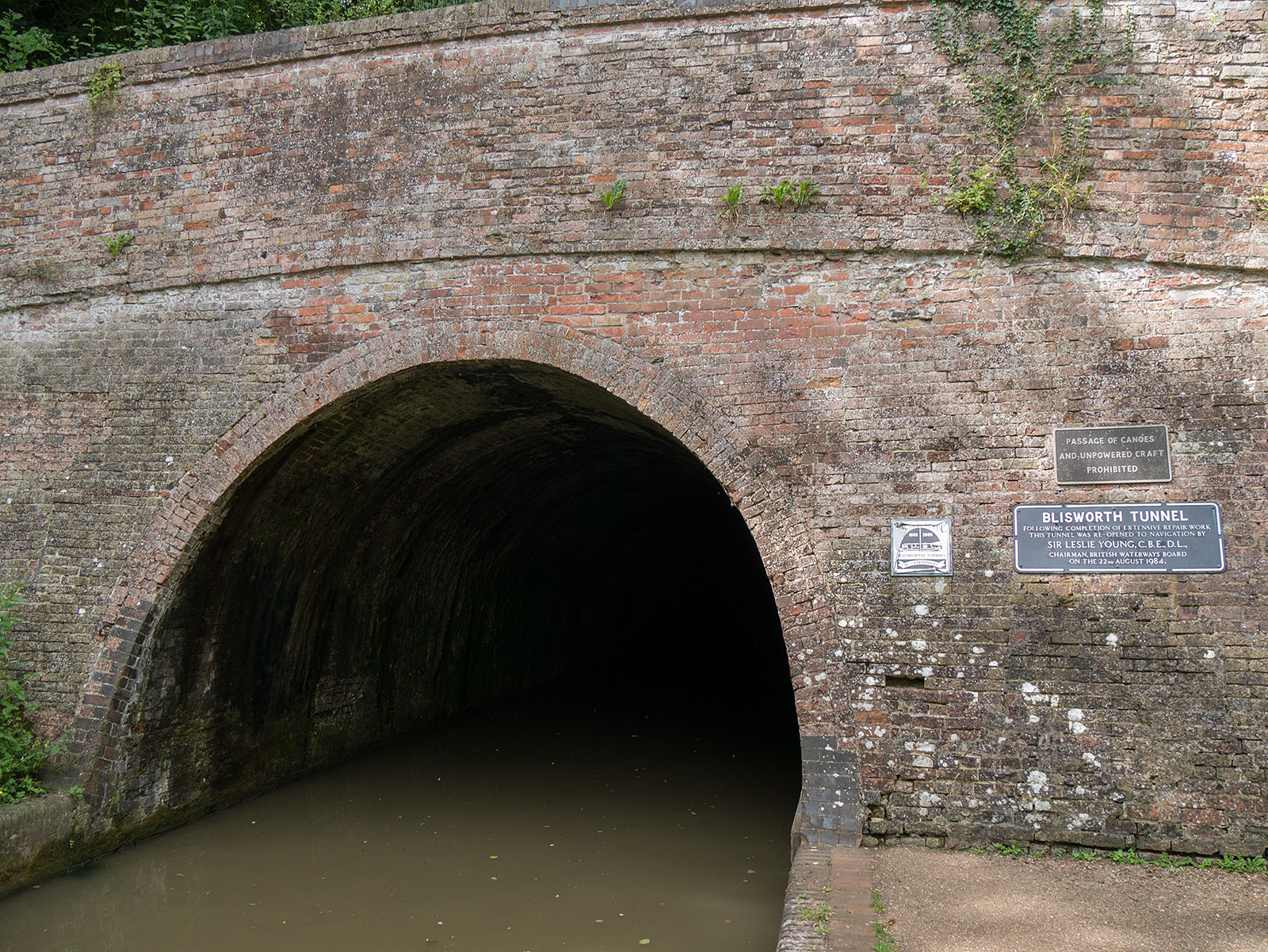 End of this walk for now - the southern entry to Blisworth Tunnel
